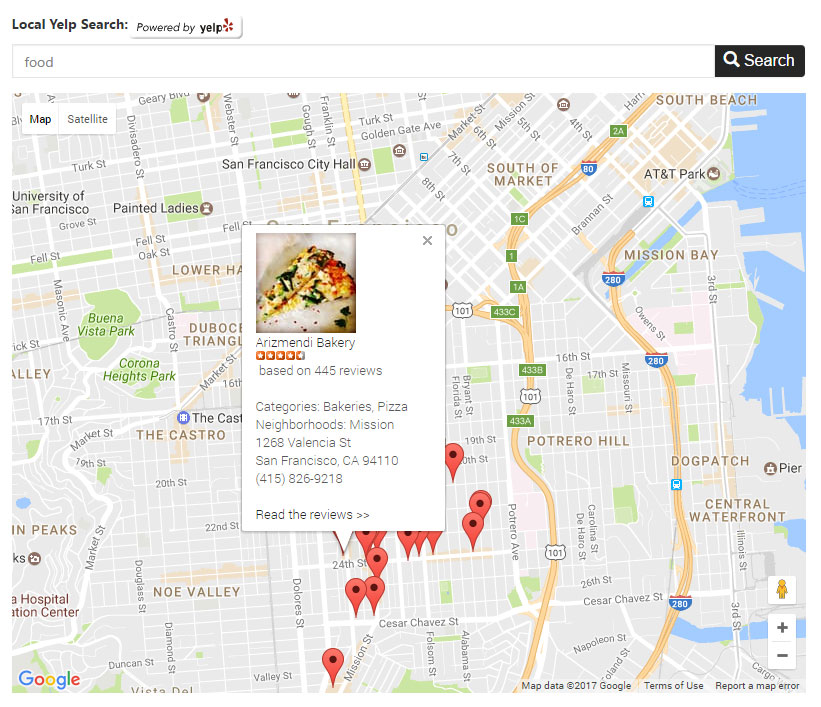 Local Search Powered by Yelp