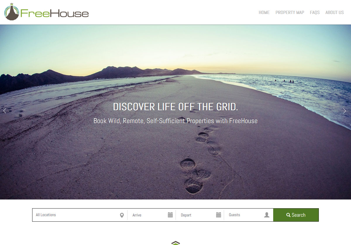 Vacation Rental Website Design - Discover FreeHouse