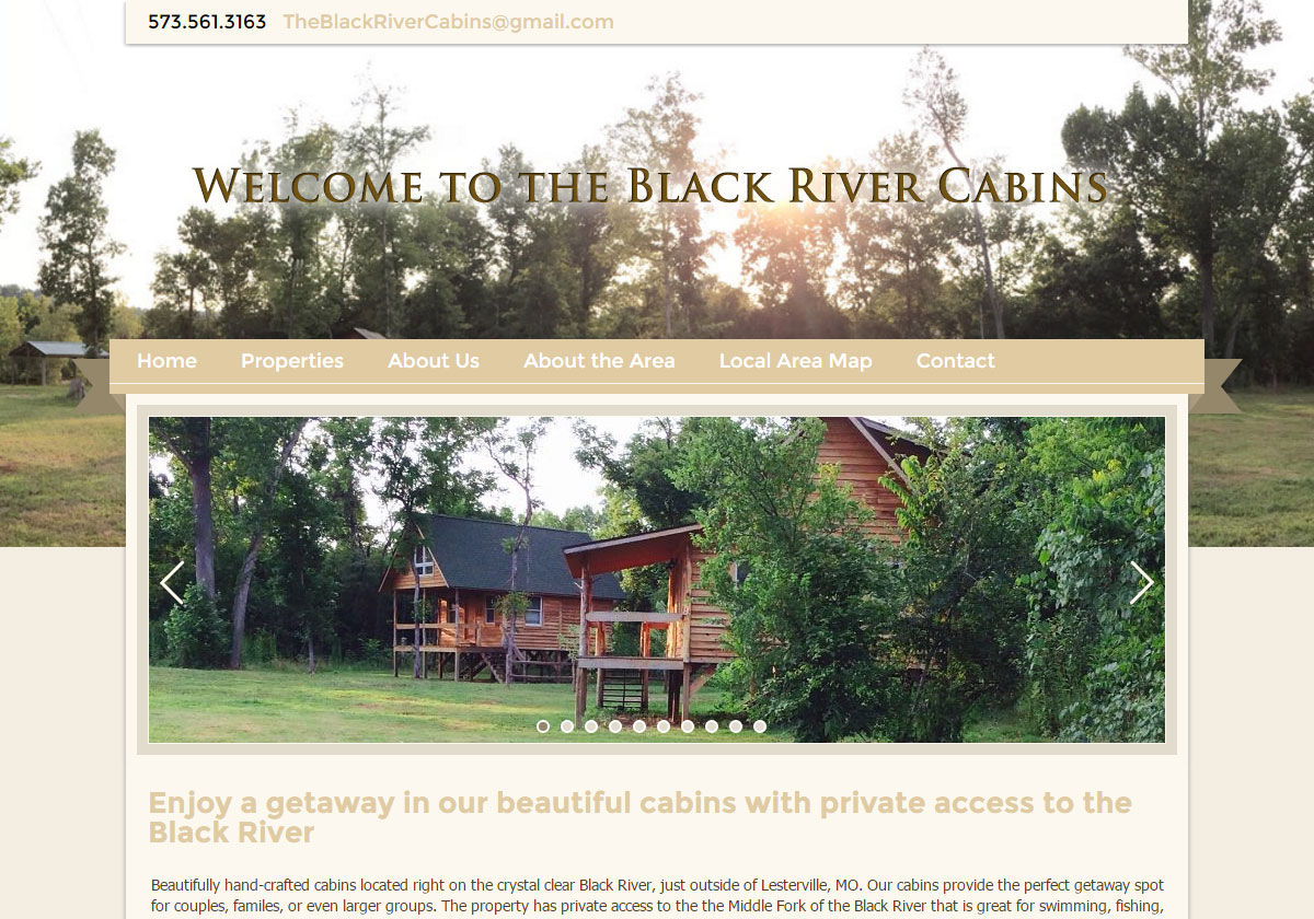 Vacation Rental Website Design - Gold and Bold