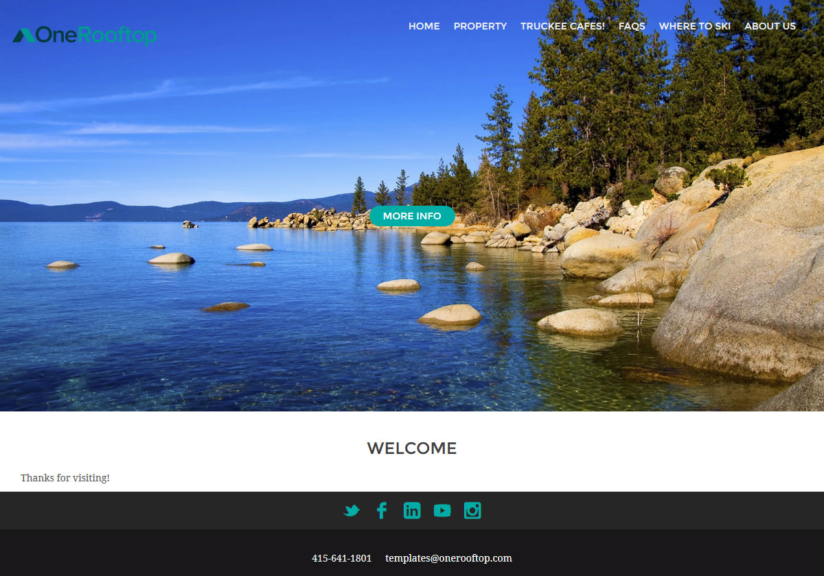 Vacation Rental Website Design - Ithica