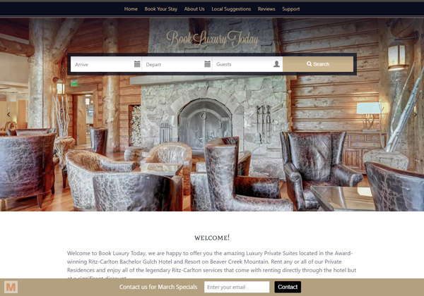 This Beaver Creek company wanted the most interactive experience for its year-round travelers. This custom-tailored website uses modern elements with full-width images and diagonal-line layouts.
