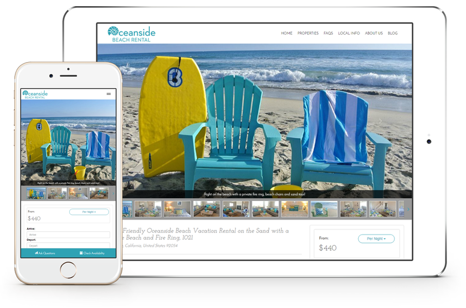 Beautiful Vacation Rental Website Templates